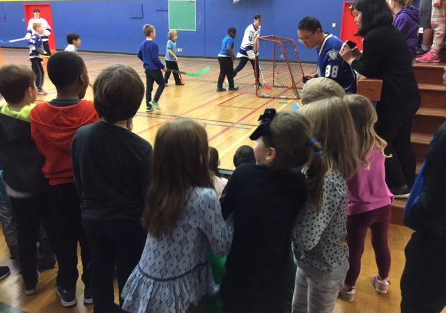 Victoria Royals visit Hillcrest Elementary